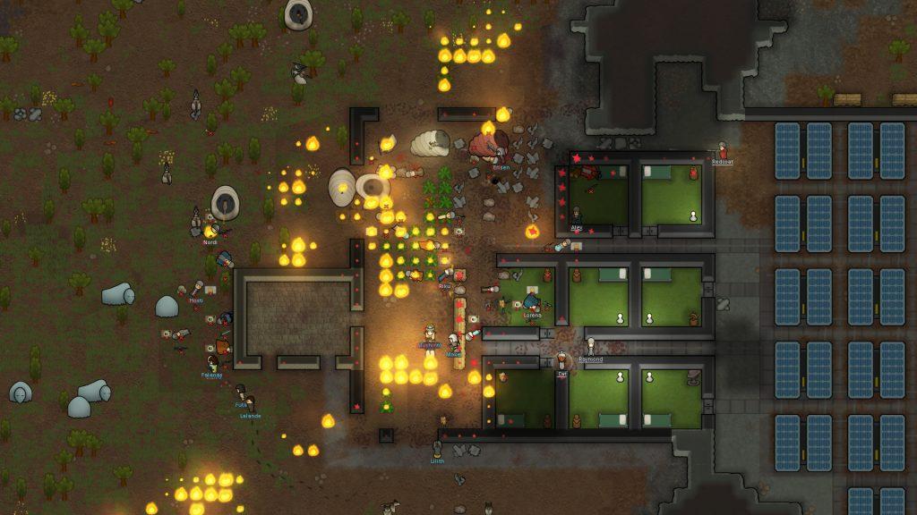 rimworld base on fire